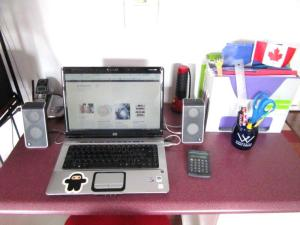 How my desk looks maybe once a year...