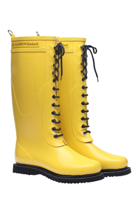 Lovely, expensive, Danish, natural, lined rubber boots