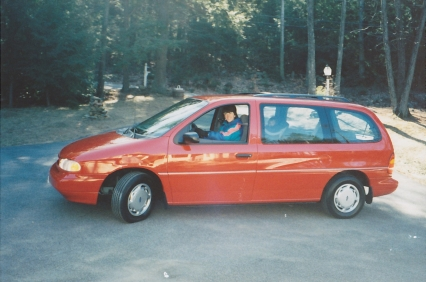 The mini-van, with little Link in the back
