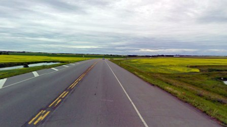 Ahhh, wide open roads!   Photo credit: Google Street View via cbc.ca