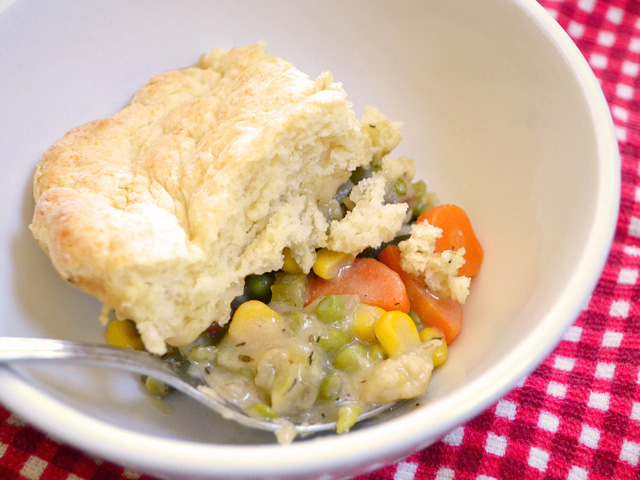 Vegetable Pot Pie. Not mine, sadly. Creative Commons photo. See: http ...