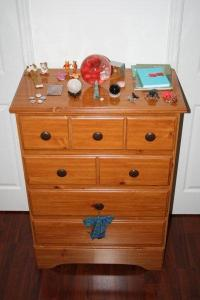 Dresser # 2 with Rom's toys on it