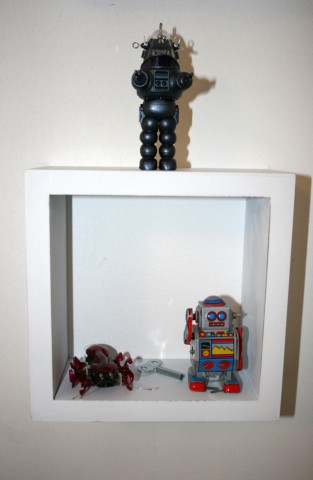 Close-up includes Robby the Robot from The Forbidden Planet (top)