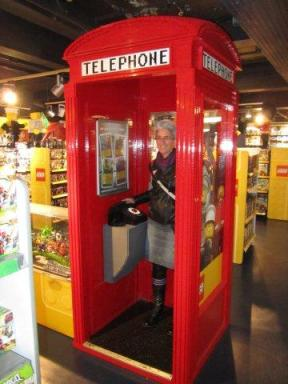 LEGO phone box at Hamley's toy shop!