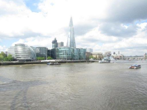 View of the Shard and City Hall from the Tower Bridge