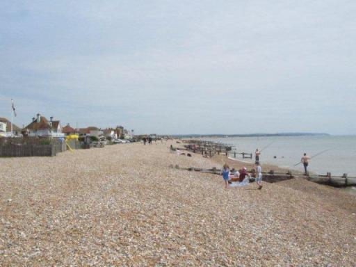 Pevensey Beach - first warm day