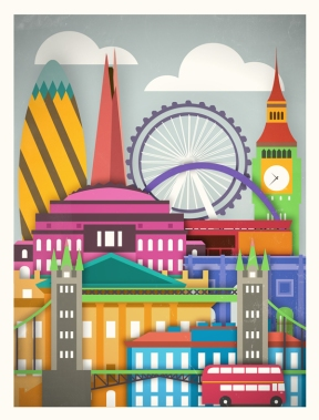 Buy this wonderful poster by Glenn Michael at moxycreative.com/touristique