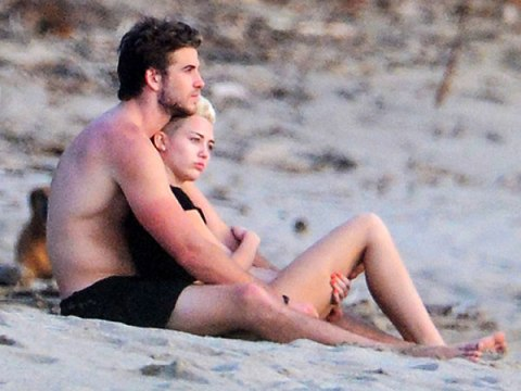 Quality photo of Miley and Liam from people.com!