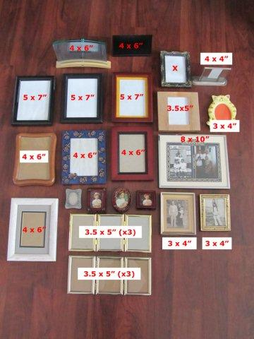 How I inventoried my picture frames