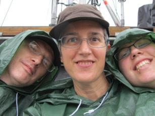 Suited up in rain ponchos for U2 360 show
