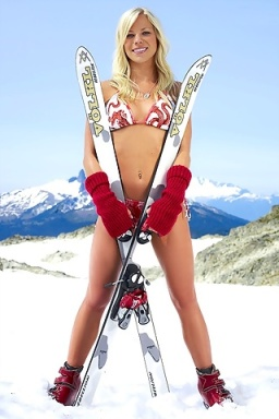 Laci Schnoor, US Olympic Skier, appears to represent for Canada in Sports Illustrated