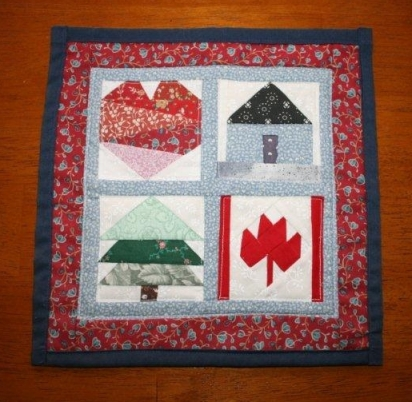 I'm very fond of the Canada wall hanging from my sister!