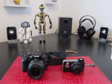 My Cameras (photo taken with Rom's camera!)