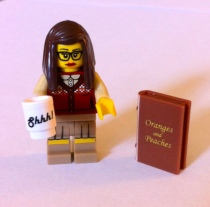 Actual Lego librarian figure (Photo: bookriot.com)