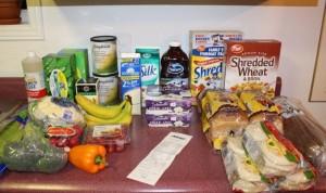 1 week of groceries