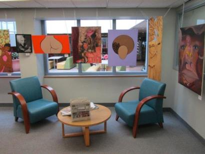 Part of the library art show