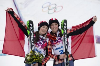 Gold and silver in skicross 2014