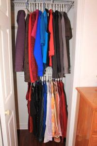 30 tops in the closet (everything else removed)