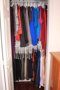 Closet refilled to its normal level
