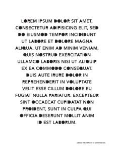Lovely rendition of Lorem ipsum from arwilkinson dot com