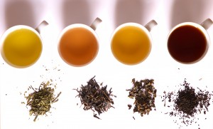 Green, yellow oolong and black tea (Photo: wikipedia)