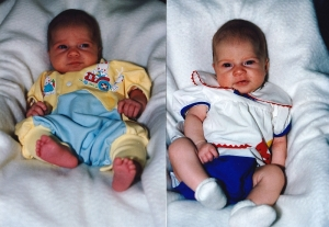 2 views of Link at 7 weeks old. You never know who they are going to be!