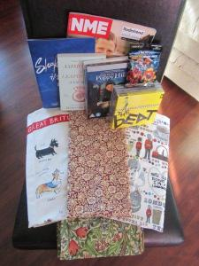 What i bought: theatre program, magazine, book, 5 CDs, 2 DVDs, 3 tea towels, 2 table napkins