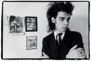 A wee Nick Cave back in the 80s (he is now 57) - photo by Bleddyn Butcher