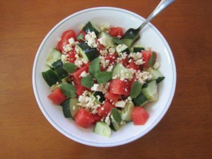 Cucumber Watermelon Salad