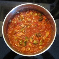 My non prize winning but very delicious spaghetti sauce (for veggie lovers only)