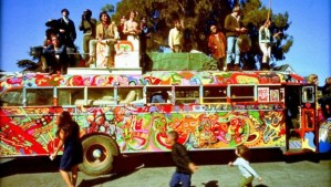 If you were here...your memory might need refreshing! (Merry Prankster Bus circa 1964)