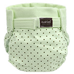 Cloth diaper from Kushies.com. Laundry advice here: http://www.kidalog.com/pages/Top-10-Mistakes-People-Make-When-Using-Cloth-Diapers.html