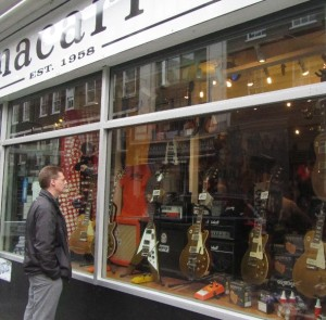 Rom on Denmark Street. He has one of these guitars, but not the  4599 pound one :)
