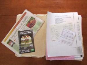 Old recipe folder