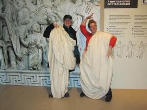 Obligatory toga photo at the Pompeii exhibit