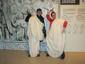 Obligatory toga photo at the Pompeii exhibit
