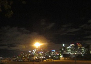 Skyline from a nearby pier