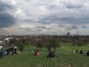 Top of Primrose Hill. Those British skies!