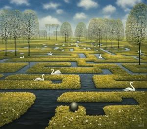 Spring Labyrinth by Jacek Yerka