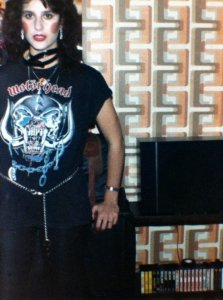 Not a real Motorhead fan at the time - just trying to look tough...