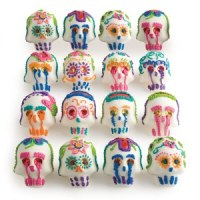 Traditional Mexican sugar skull candy for the Day of the Dead (source unknown)