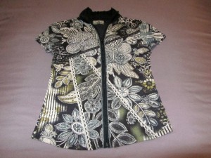 Thrifted summer zip top