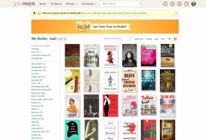 Screenshot of most recent books read - website version