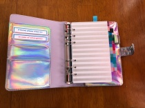 Open ring-binder bullet journal