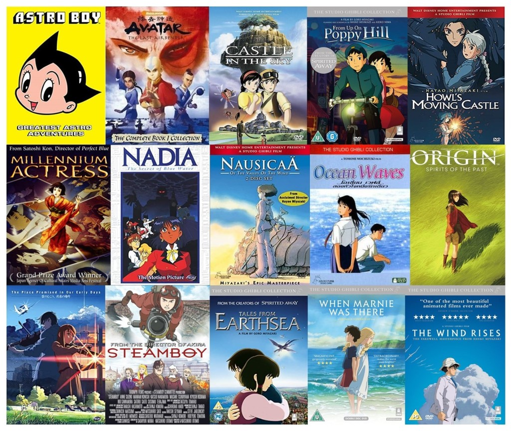 15 DVD covers for anime films and series